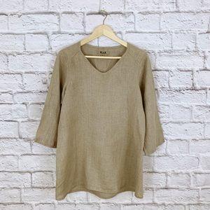 Flax Linen Beige Tunic